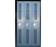 Ventilated gym lockers front