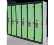 Used Two-Toned Steel Lockers with Double Pan Doors