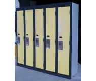Used heavy duty metal storage lockers