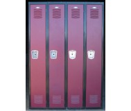 Used school lockers, front view