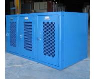 Heavy duty ventilated lockers front angle