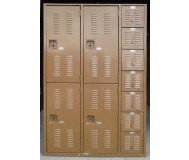 Welded Mixed Lockers, Front view, Closed doors