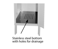 Locker Bottom, Stainless Steel, 16 ga. with holes for drainage