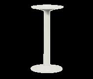 "Bench Pedestal.  16-1/4"" high.  Steel. Tubular.  Beige"