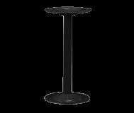 "Bench Pedestal.  16-1/4"" high.  Steel. Tubular.  Black"
