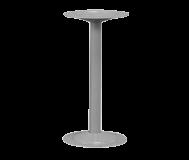 "Bench Pedestal.  16-1/4"" high.  Steel. Tubular.  Gray"