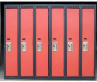 Used metal lockers with double pan doors